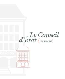 Le Conseil d'État du Grand-Duché de Luxembourg