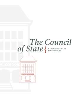 The Council of State of the Grand Duchy of Luxembourg