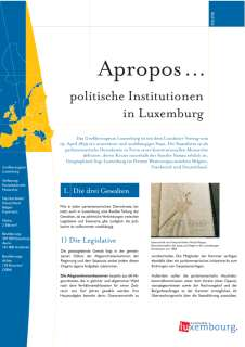 a_propos_politique_fr, Apropos... politische Institutionen in Luxemburg
