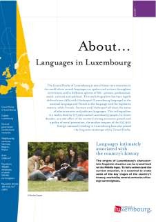 About... Languages in Luxembourg