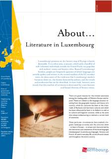 About... Literature in Luxembourg