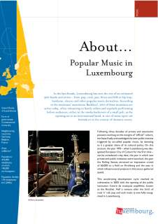 About... Popular Music in Luxembourg
