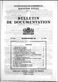 , Bulletin de documentation 11-12/1958