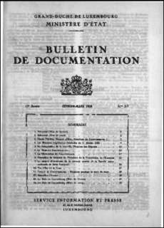 , Bulletin de documentation 2-3/1959