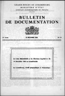 , Bulletin de documentation 10/1968