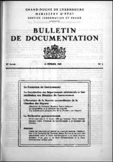 , Bulletin de documentation 1/1969