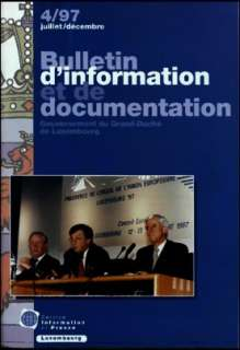 Bulletin d'information et de documentation 4/1997